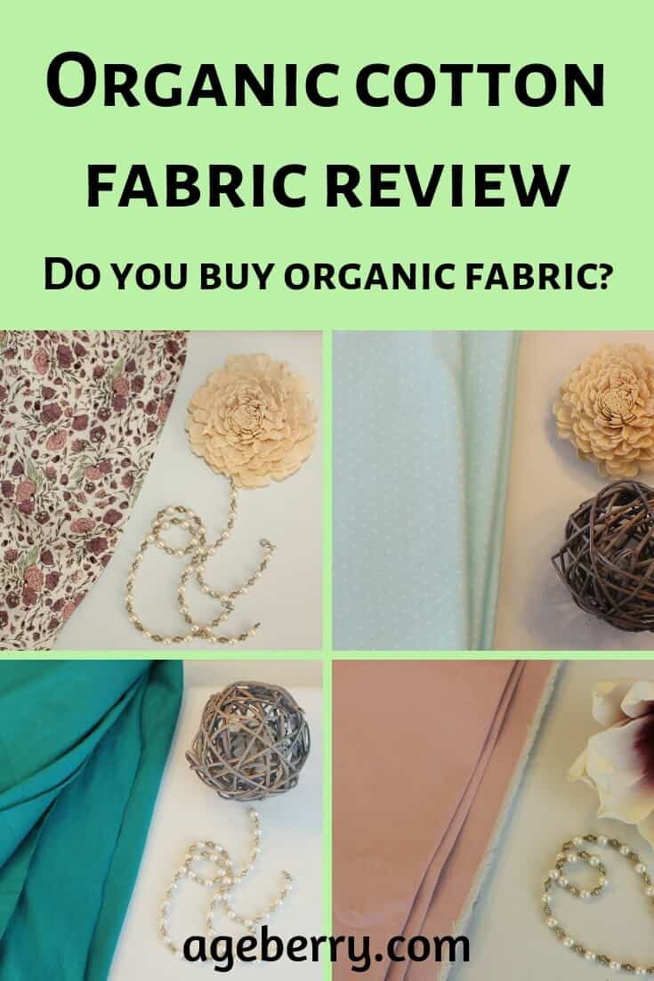 organic cotton fabric review pin for Pinterest