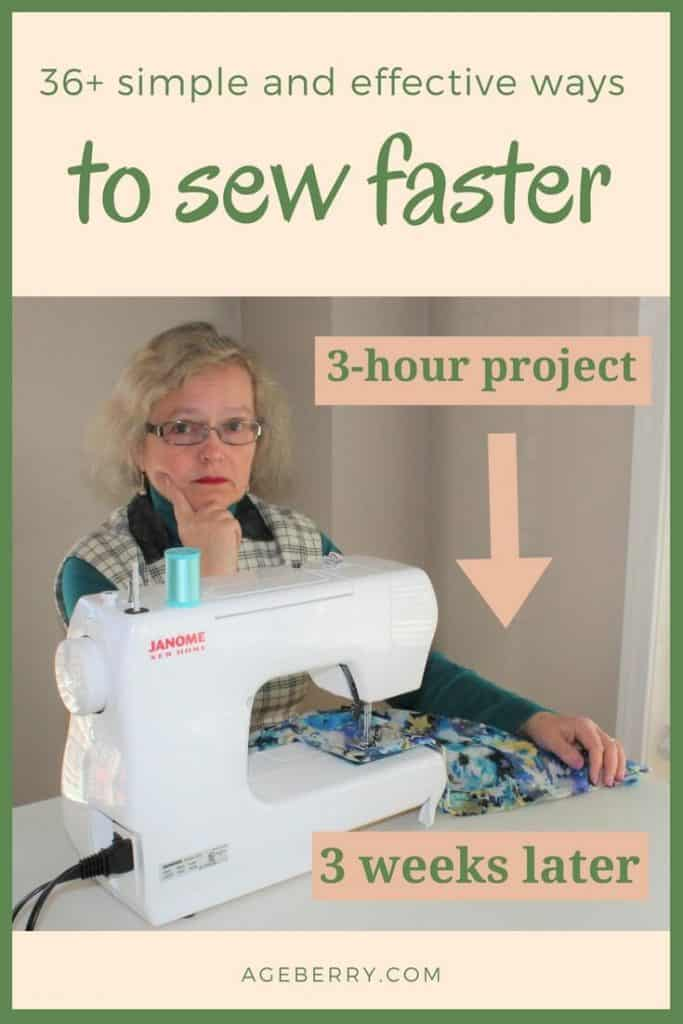How to sew faster pin for Pinterest