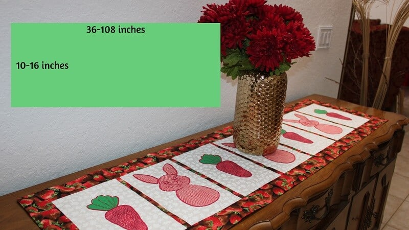How To Make A Table Runner With Border Step By