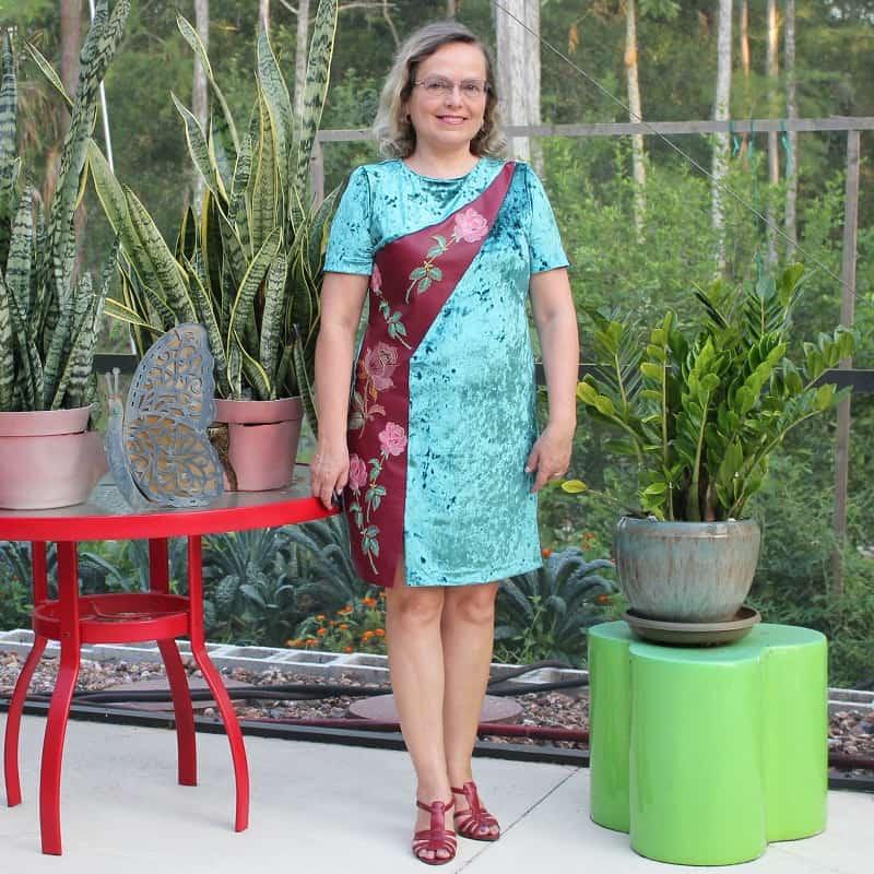 green crushed velvet dress how to sew velvet tips and tricks