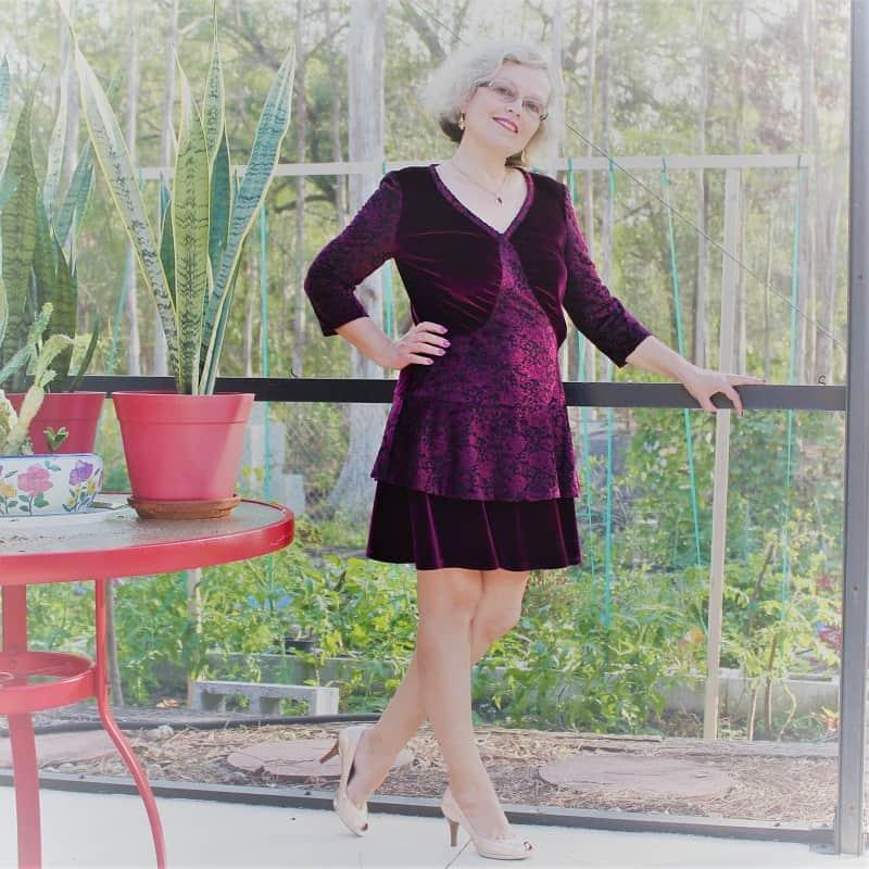 red velvet dress how to sew tips and tricks