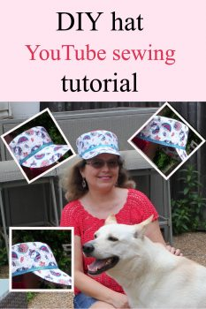 How to sew a hat for beginners pin for Pinterest