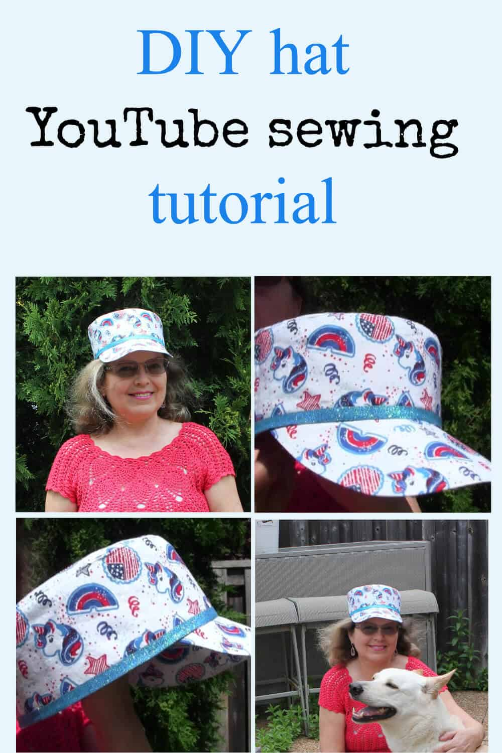 DIY hat cadet cap pin for Pinterest