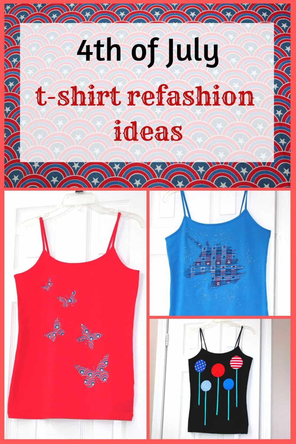 t-shirt refashion ideas pin for Pinterest