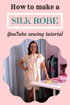 How to make a robe from silk fabric pin for Pinterest