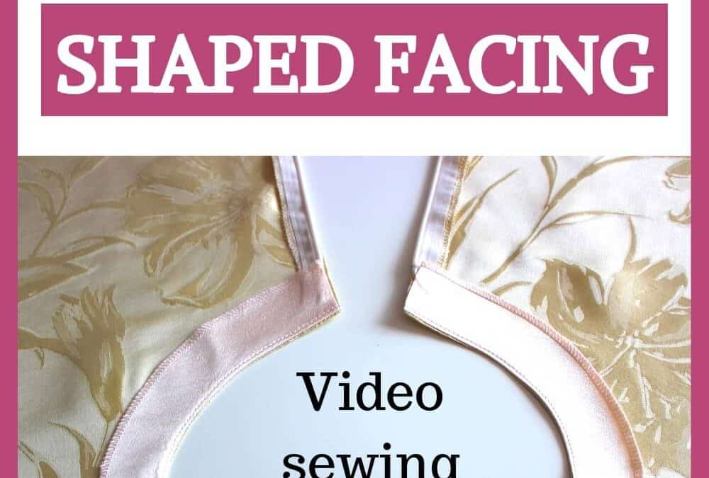 Shaped facing: a detailed tutorial on how to sew facing to a curved neckline