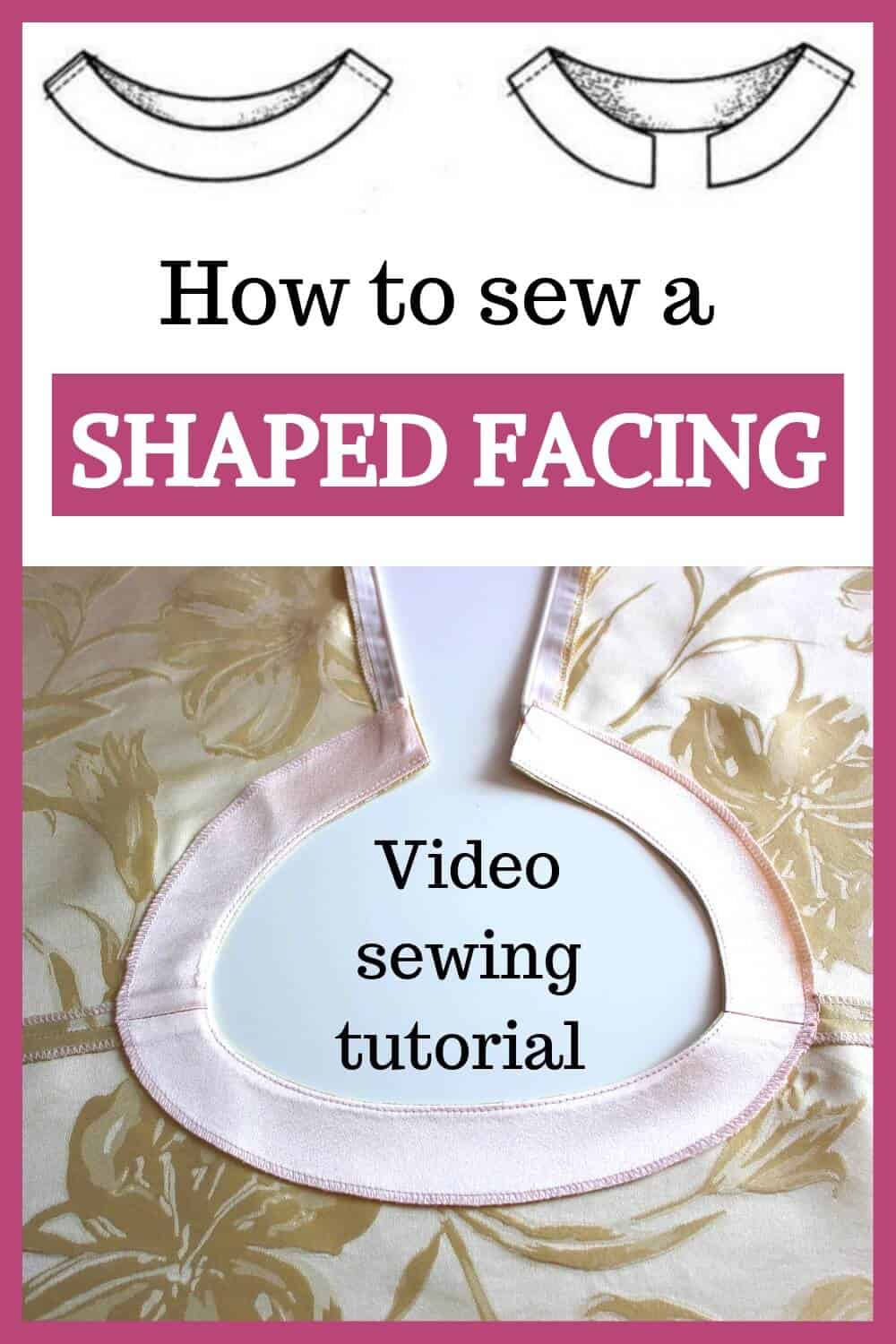 How to sew a facing - a video sewing tutorial