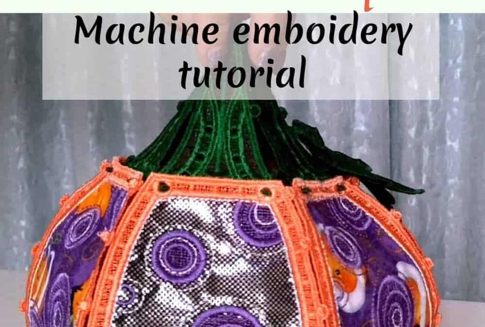 Machine embroidery tutorial: exclusive Halloween decor project to inspire you