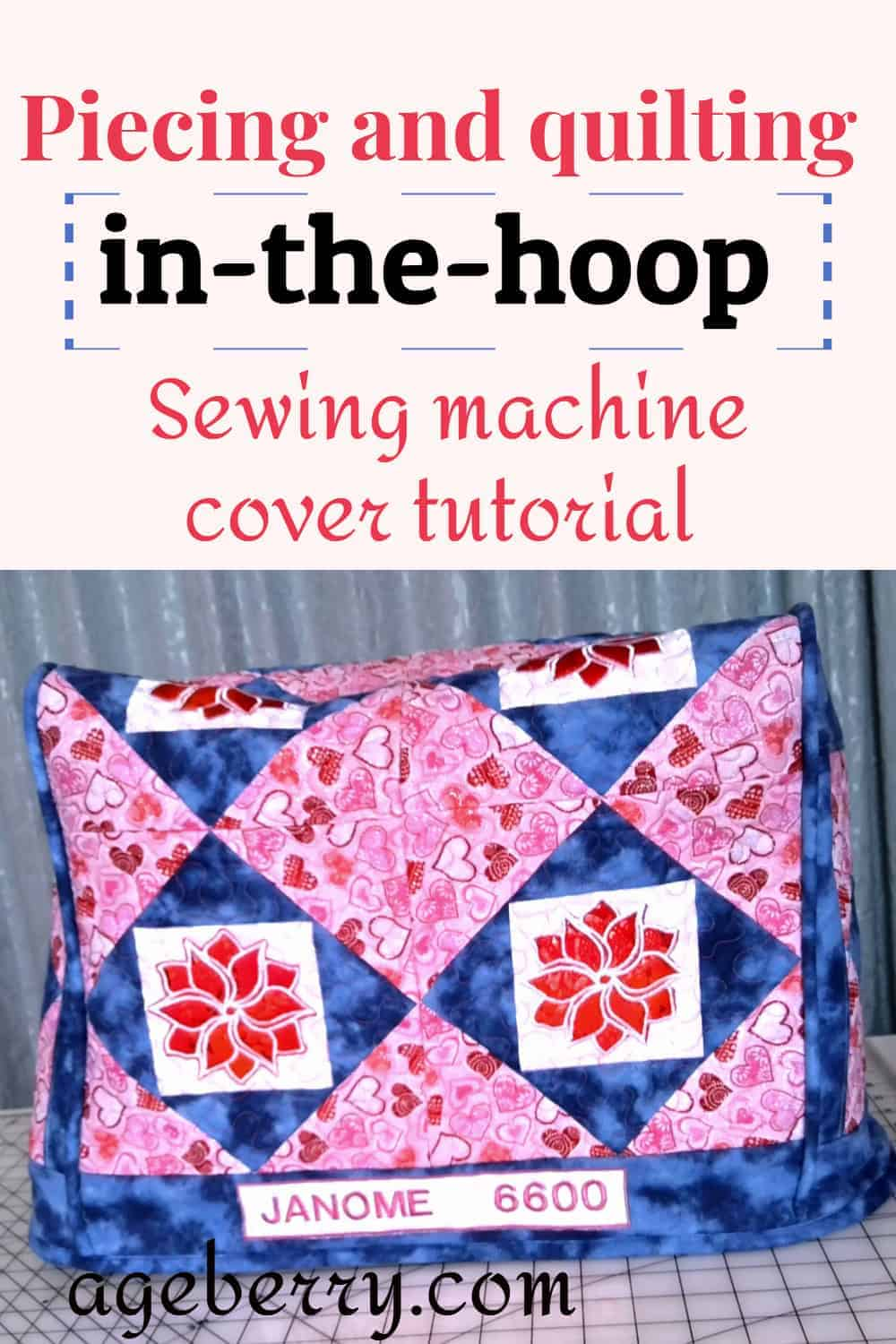 quilting in the hoop with an embroidery machine, sewing machine cover