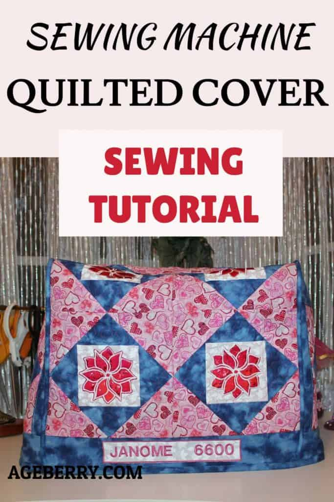 sewing machine quilted cover tutorial