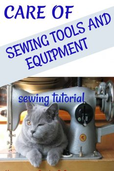 how do you take care of sewing tools?