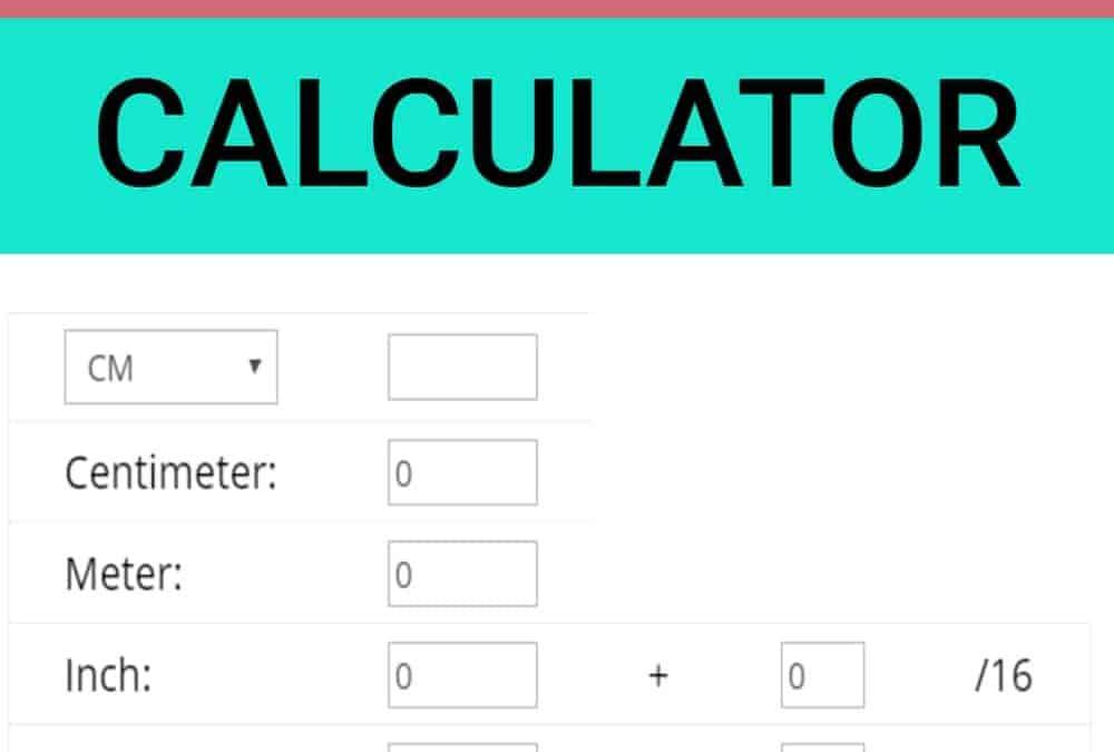 Fabric conversion calculator