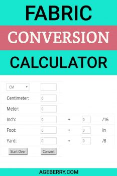 fabric conversion calculator