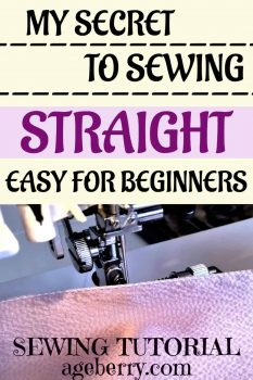 Howe to sew straight and make perfectly straight stitching lines
