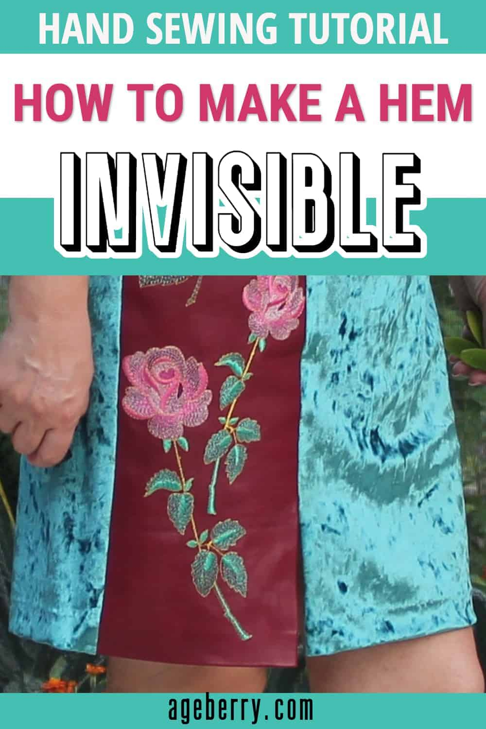 invisible hem by hand sewing