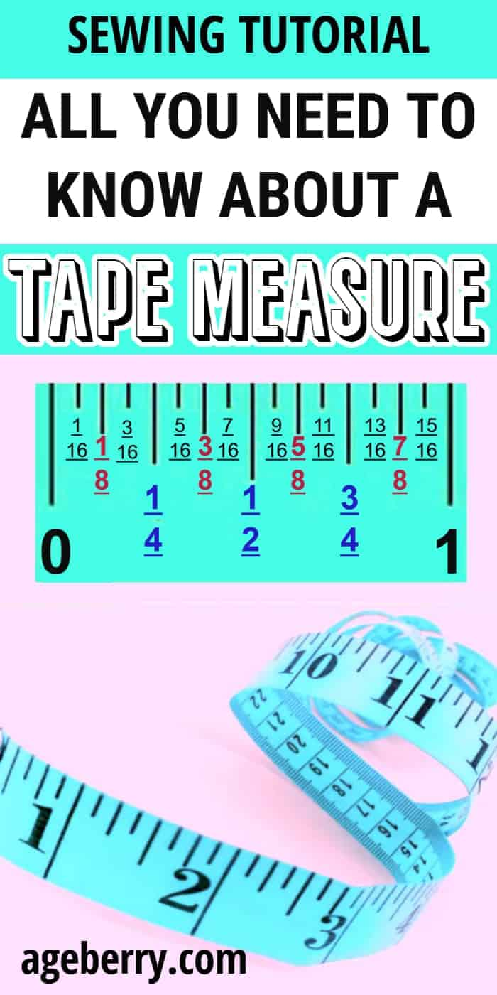 tape measure for sewing - how to read a tape measure