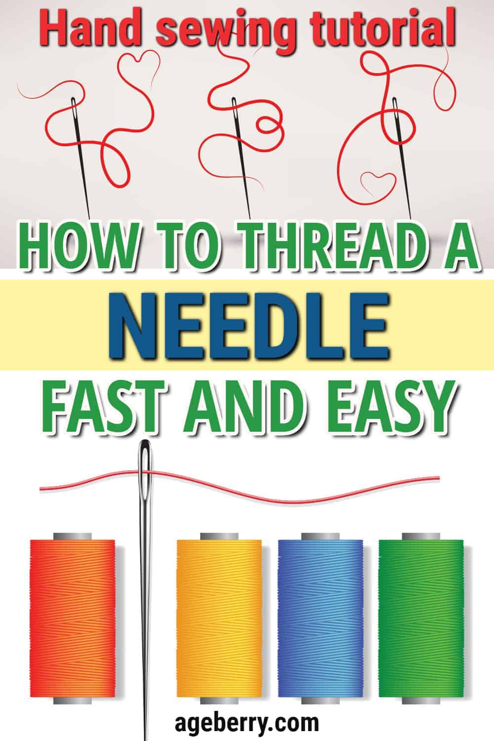 how to thread a needle fast and easy hand sewing tutorial