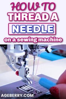 How to thread a needle on a sewing machine - a video sewing tutorial