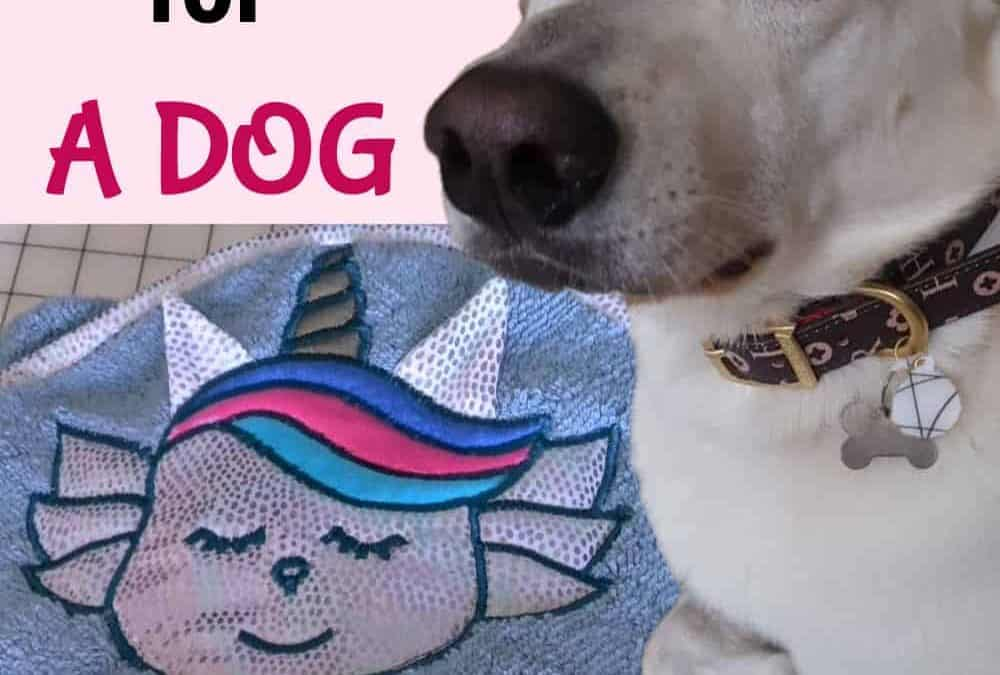 Haute dog – how to sew a personalized dog drying coat/towel
