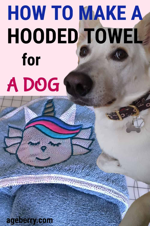dog drying coats towels DIY