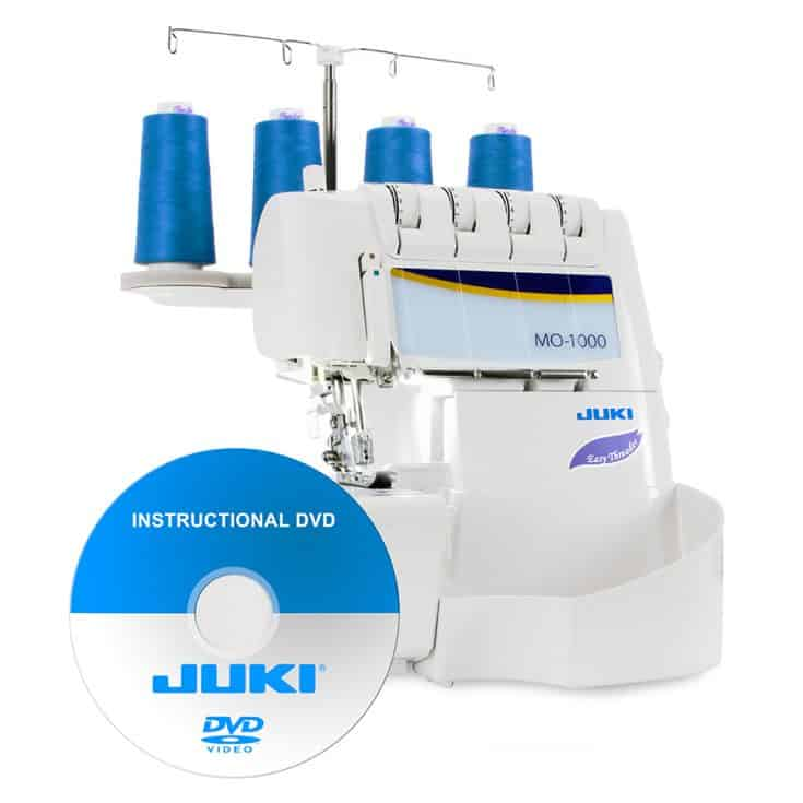Juki MO-1000 2/3/4 Thread Overlock Serger with Push-Button Air Supported Threading - Introductory Pricing!