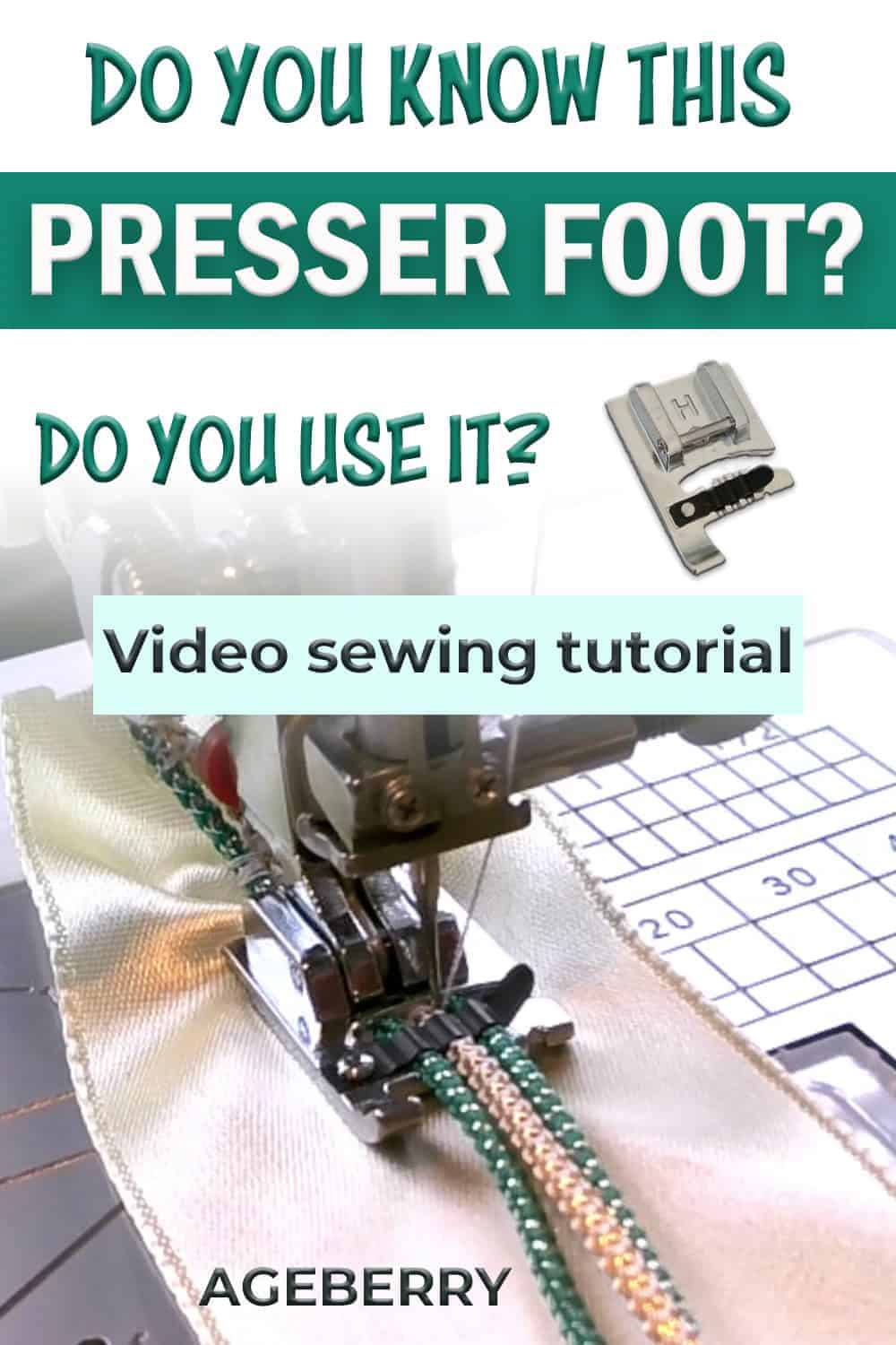 cording foot how to use