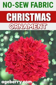 no-sew fabric Christmas ornament