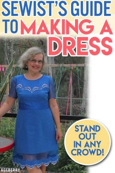 sewing tutorial on how to cut and sew a dress step-by-step