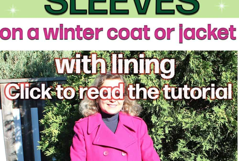 How to shorten sleeves on a winter coat or a jacket with lining