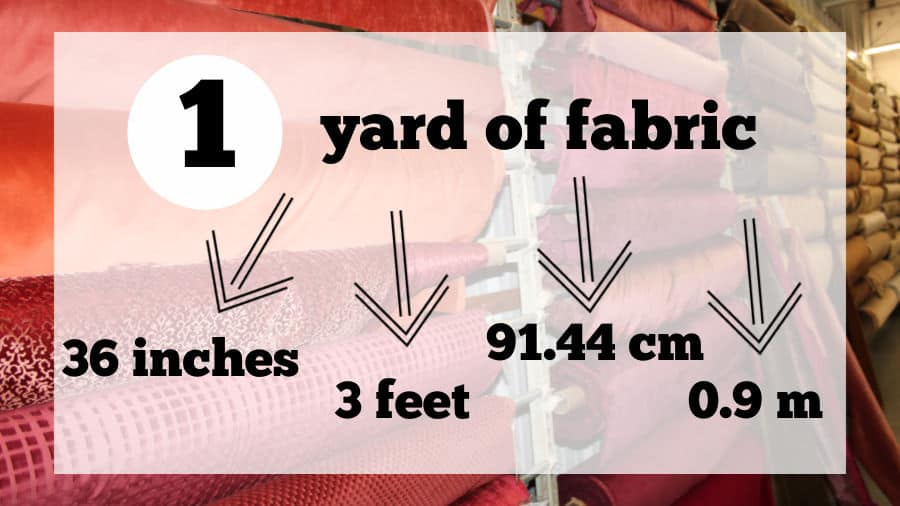 How many inches in 1 yard of fabric, how many feet?