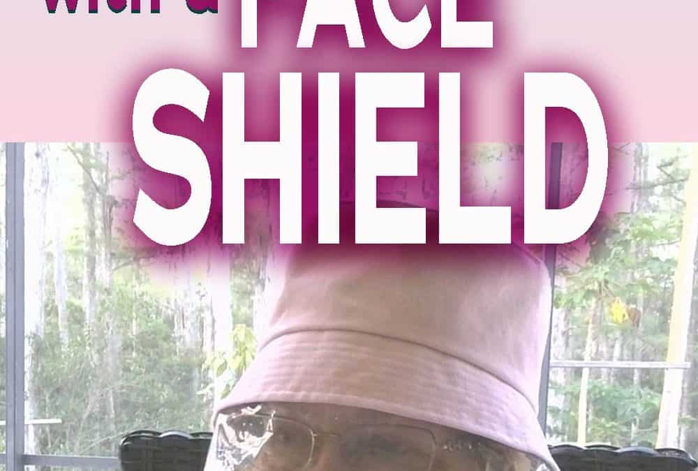 How to make a bucket hat DIY with a clear face shield {free PDF pattern}