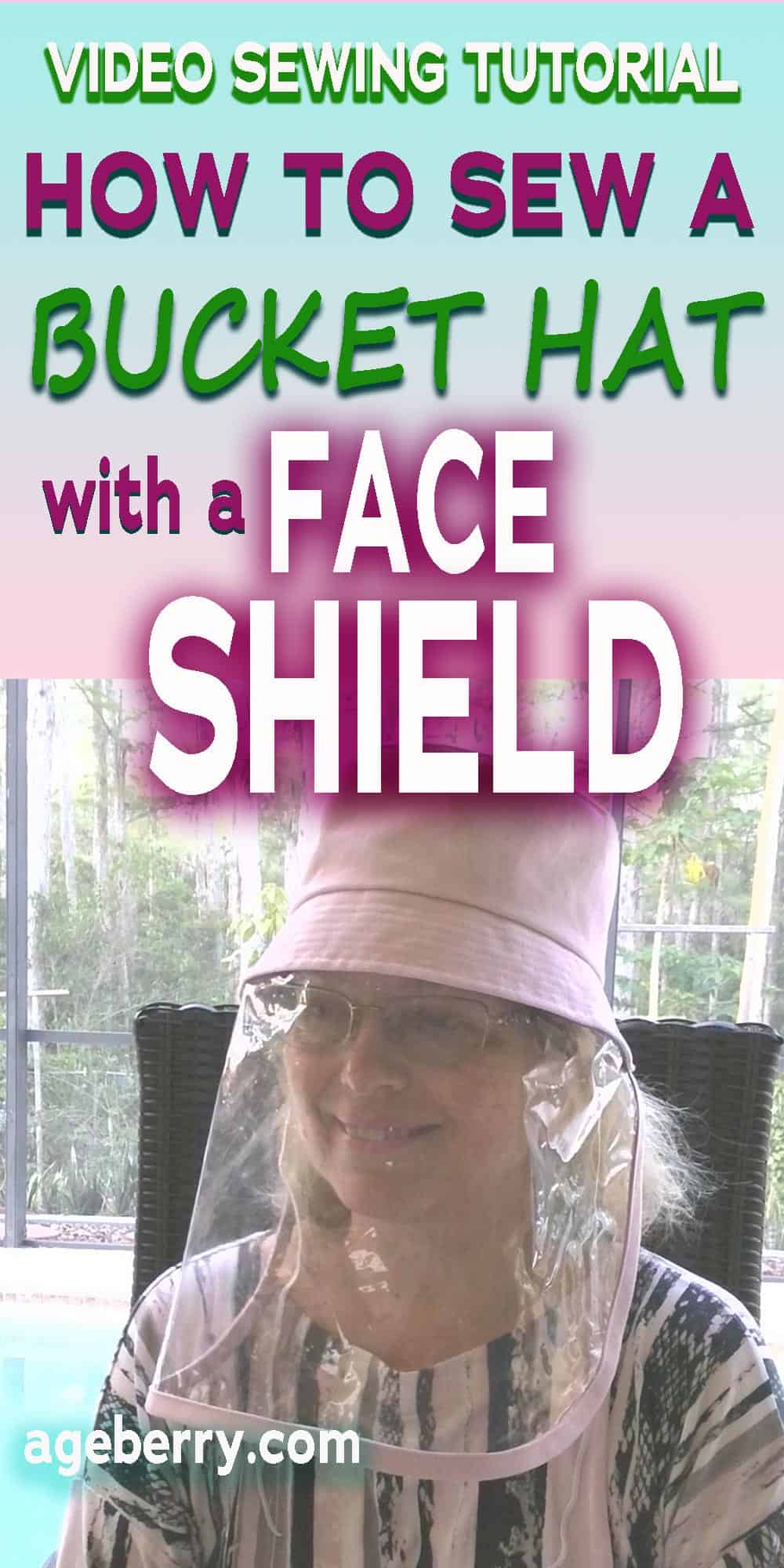 Sewing tutorial on a bucket hat with a shield