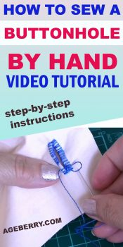 hand sewn buttonholes - video sewing tutorial