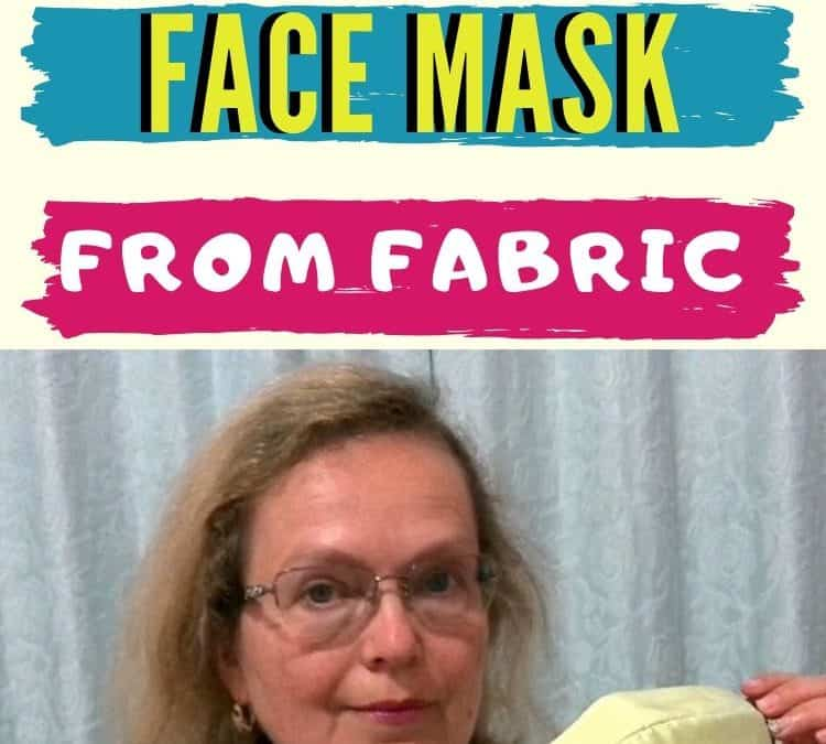 Sewing tutorial on a face mask from fabric plus a free pattern PDF