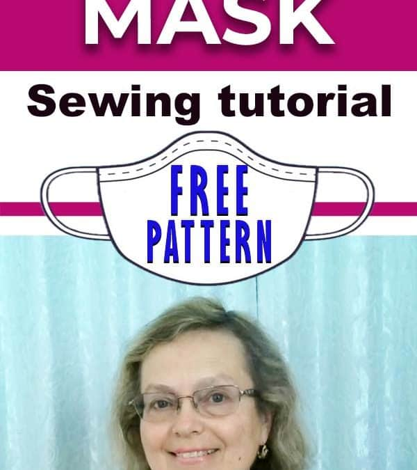 How to sew a fabric face mask plus a free face mask pattern