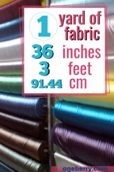 how big is a yard of fabric