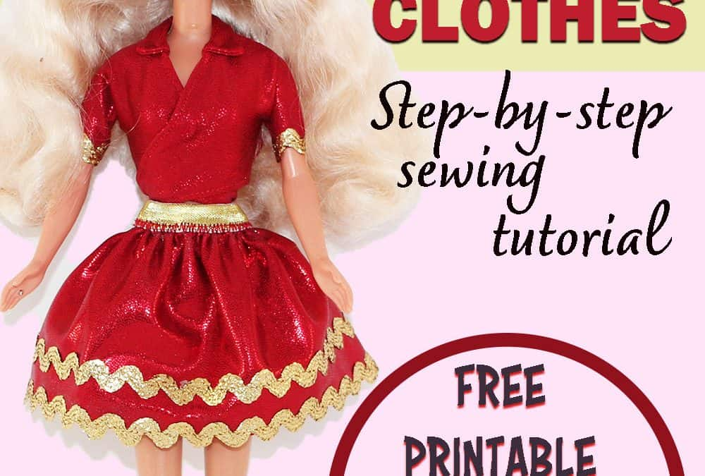 DIY Barbie doll clothes patterns free printable