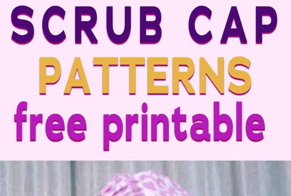 Sewing tutorial on how to sew a scrub hat plus 2 free printable scrub cap patterns