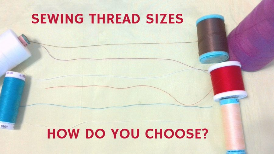 Sewing thread sizes