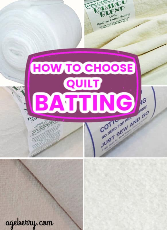 types of quilt batting
