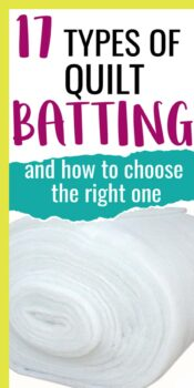 best quilt batting types