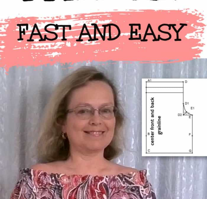 Off the shoulder dress pattern drafting sewing tutorial
