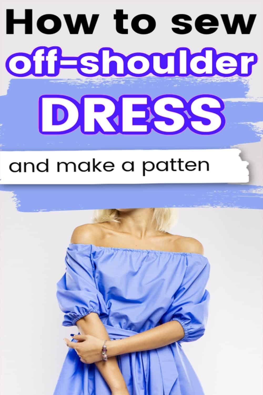 Off-shoulder dress sewing tutorial