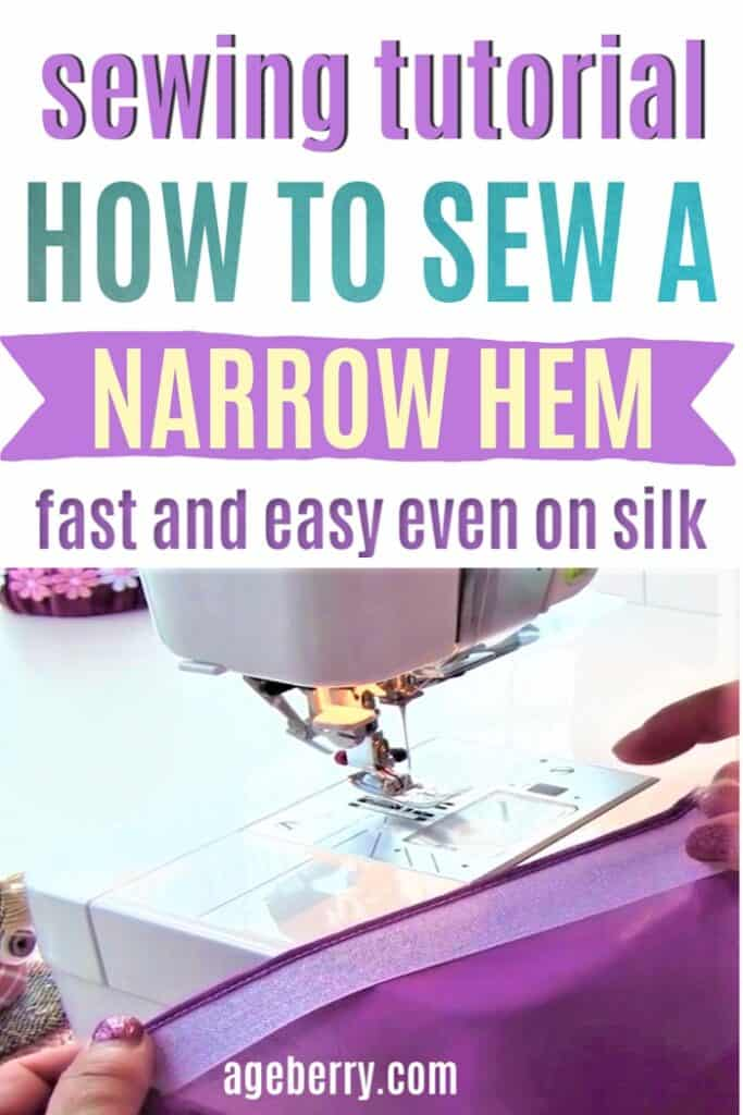 Narrow hem tutorial