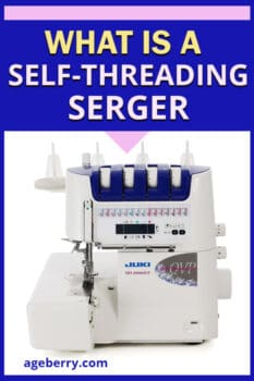 self-threading serger
