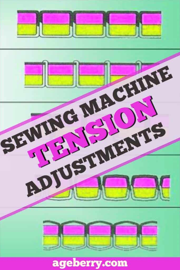 Sewing machine tension adjustment