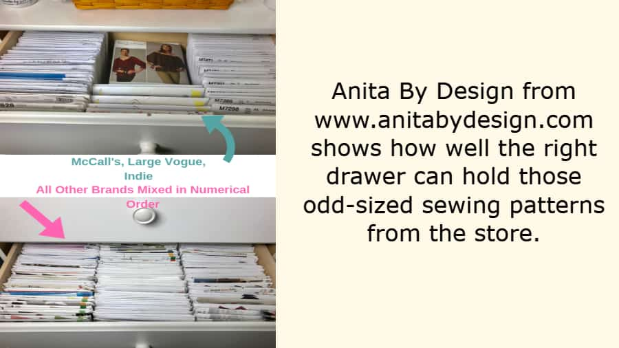 how to organize sewing patterns