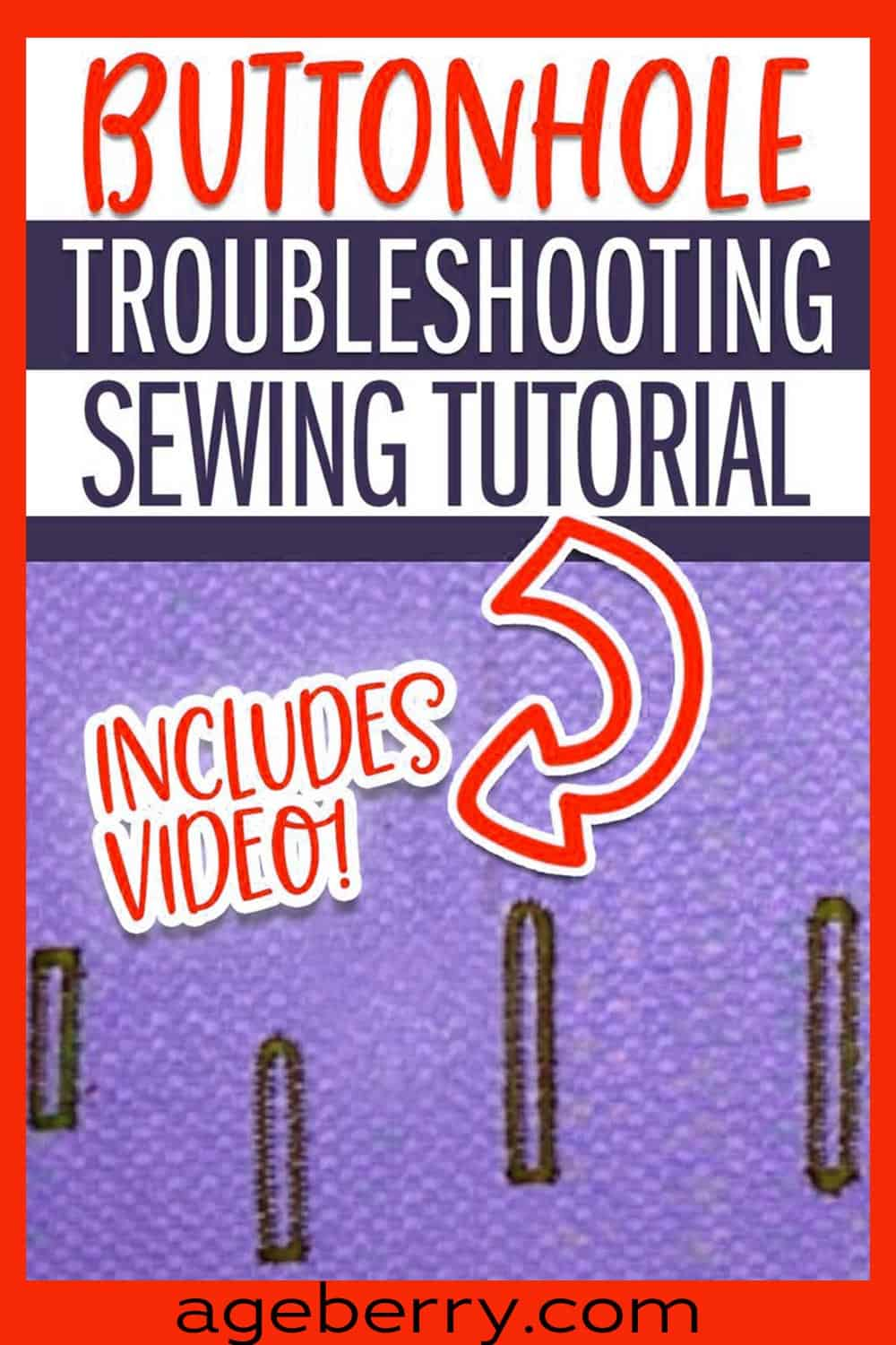 Buttonhole troubleshooting sewing tutorial