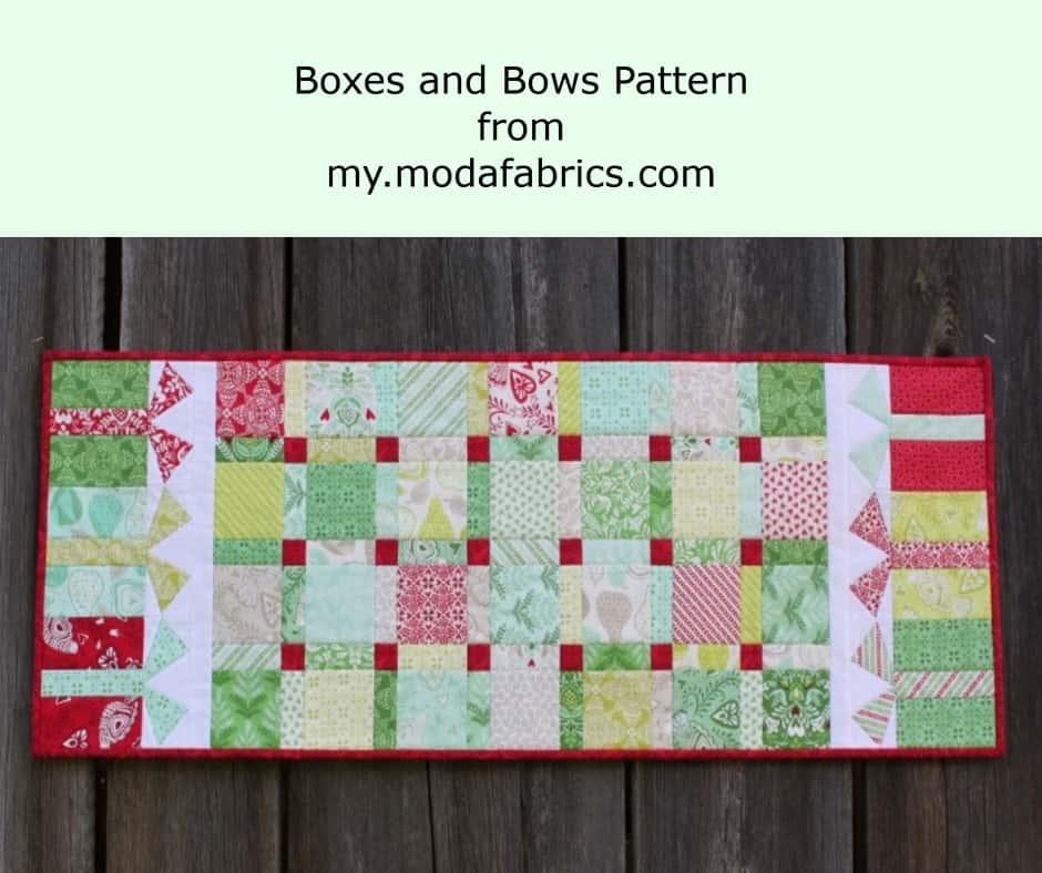 Christmas table runner pattern to make