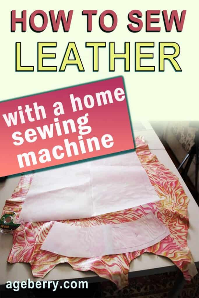 how to sew leather sewing tips